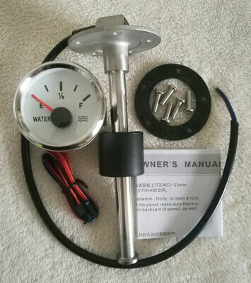 Water Level Gauge With Sender,240-33 Ohms,Water Tank Level,2''/52mm,Universal
