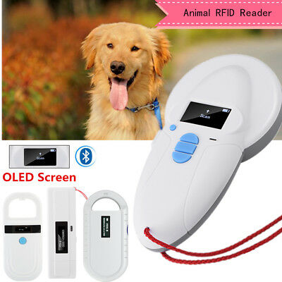 RFID Reader ISO FDX-A FDX-B Animal Chip Dog Pet Microchip Scanner OLED Handheld