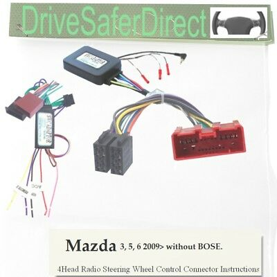 SWC-4896-01L CAN-BUS Stalk Control,LEARNING for Chinese Radio/Mazda 3 BL 09-13
