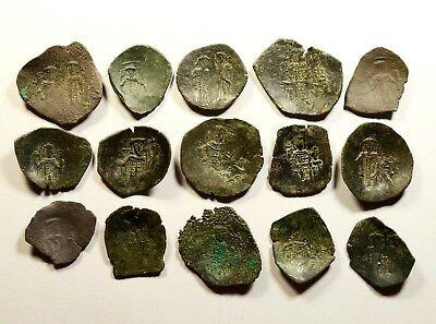 Lot Of 15 Ancient Byzantine Cup Coins - 027