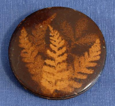 Mauchline Ware Fern Ware Sewing Needle/Pin Holder