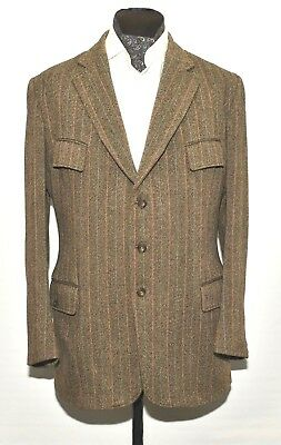 "Hebden Cord Vintage Herringbone Norfolk Tweed Plus Four Shooting Suit 44"" 1970's"