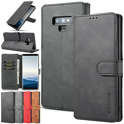 Retro Magnetic Leather Wallet Flip Case Cover For Samsung Note 9 S9 S8 S7 Edge