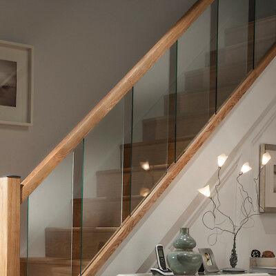 Glass Reflections Glass and Pine Rails - Stair or Landing Refurbishment Sets