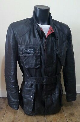 Rare £229 Barbour International Steve Mcqueen Style Jacket - S - Great Condition