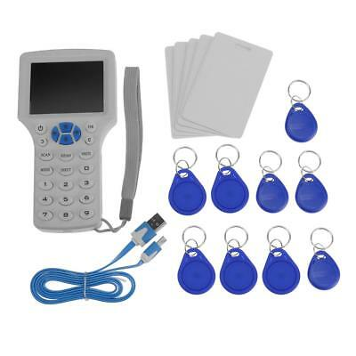 9 Frequency English ID/IC Card Reader Writer LCD Screen Handheld Writer Copier