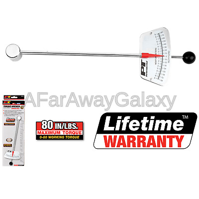 """1//4/"""" and 0-7 N-m Beam Style Torque Wrench Performance Tool M195 0-80 in-lb"""