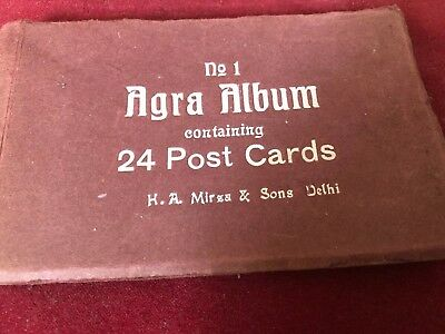 Old Indian Postcards Album of Agra Set of 24 Publish Mirza & Sons Delhi