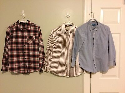 Lot Of Three Big Boys Button Down Shirts The Children's Place Size L (10/12)