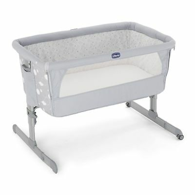 Chicco Next 2 Me Drop Side Crib, Grey Circles bed side & stands on own
