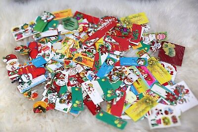 Vintage Christmas Tags Labels Seals Lot Over 100