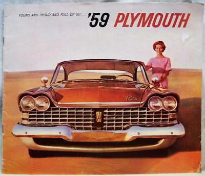 1959 Plymouth Automobile Car Advertising Sales Brochure Guide Vintage