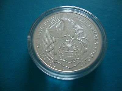 2017 Queen's Beasts The Griffin of Edward III 2oz Silver Bullion Coin in Capsule