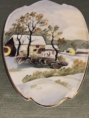 Vintage Hand Painted Lefton China Plaque # 588
