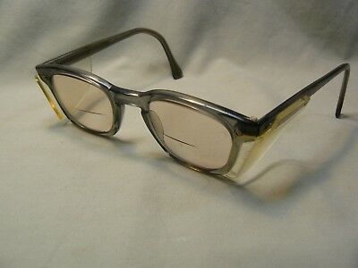 Vintage AO American Optical Flex-Fit Safety Glasses w/Side Shields & Magnifiers