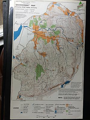 Vintage Pound Ridge Reservation NY Orienteering map pub. 1971 hiking jogging ski