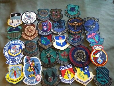 Vietnam War To Modern US Air Force Squadron Patch Insignia Lot