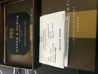 Hawes and Curtis Gift Voucher £50