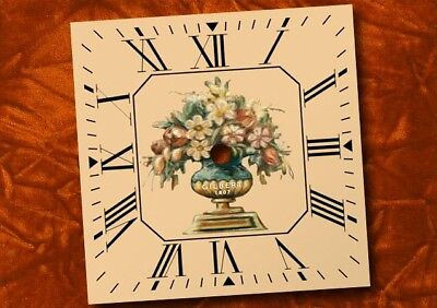 GILBERT 1807 Antique Floral Clock Dial, logo, replacement clock dial