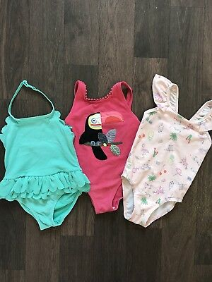 3x Baby Girl Swimming Costume Bundle 12-18 Months NEXT