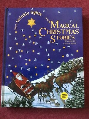 Children'S Hardback Magical Christmas Stories With Twinkly Lights, New
