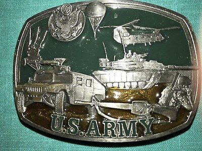 U.S. ARMY Belt Buckle..1991...Pewter w/ enamel backing