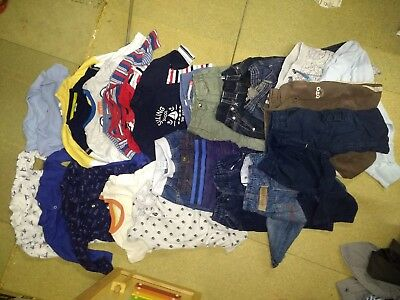 9-12 month baby boys clothing bundle. 12 pairs of trousers