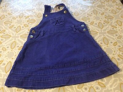 Jo Jo Maman Bebe 18-24 Months Pinafore Dress Blue