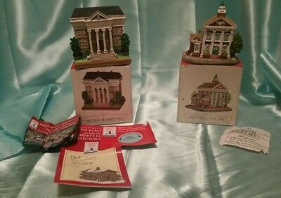 Miniature Collectibles LIBERTY FALLS - post office and first bank