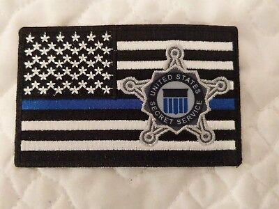United States Secret Service Thin Blue Line Subdued Flag Patch Police