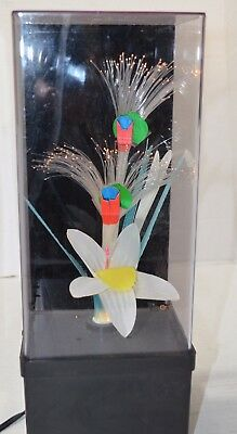 Vintage Fiber Optic Flower Lamp Color Changing