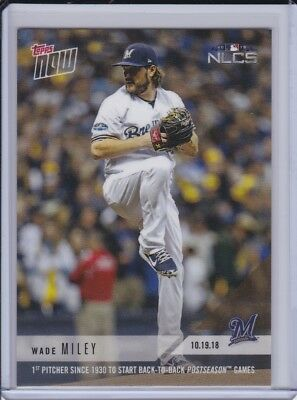 2018 Topps NOW MLB 916 Wade Miley 1st Since 1930 Start Back-to-Back Postseason