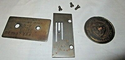 Antique Wheeler & Wilson Sewing Machine D-9 LOGO SERIAL NUMBER And Feeder Plate