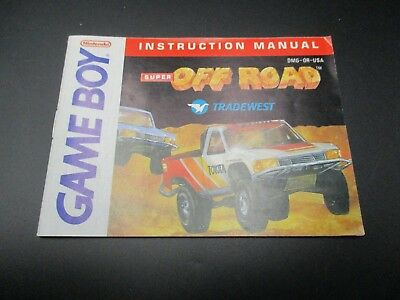OFF Road Game Boy Spielanleitung Anleitung Manual Booklet