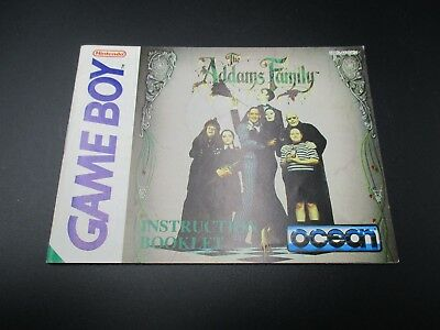 Addams Family Game Boy Spielanleitung Anleitung Manual Booklet