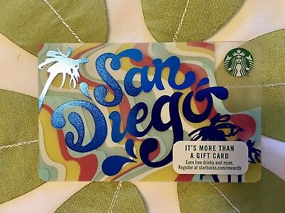 Brand New  SAN DIEGO STARBUCKS GIFT CARDS 2017  Just Released