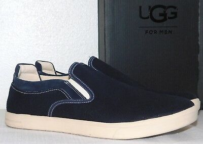2f3c06474b7 NEW NIB MENS Size 11 Navy Blue Ugg Mateo Canvas Slip-On Sneakers ...