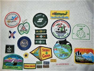 Boy Scouts Patches Jamboree Canada Uk Nice Lot Of 24