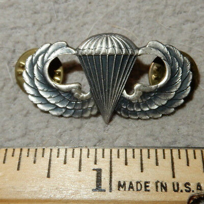 Original Us Army Paratrooper Airborne Wings Clutch Backed Meyer