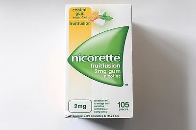 Nicorette Fruitfusion Flavour 2mg Sugar-Free Coated Gum - 105 Pieces