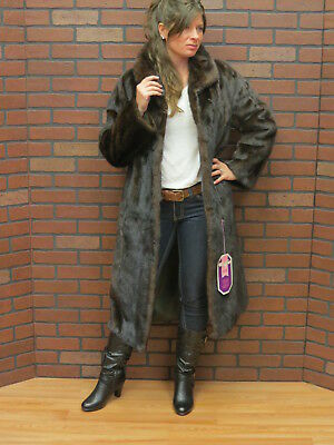 ladies real CLEAN PRISTINE! supple DARK MAHOGANY BROWN RANCH MINK FUR COAT s m