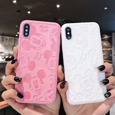 Cute for iPhone Xs Max X 8 Cute Mickey Mouse Superman Case PU Leather Soft Cover