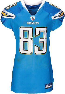203c82c4a 2011 Vincent Jackson Game Worn Unwashed San Diego Chargers Jersey Photo  Matched