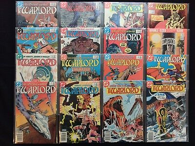 WARLORD Lot of 16 DC Comic Books - #85-88 90-100 116!