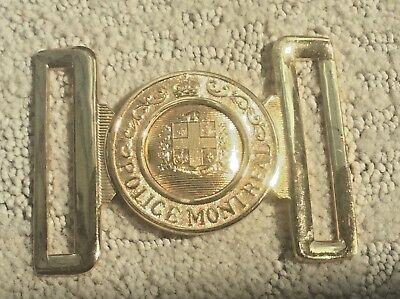 Collectible Montreal Police Buckle