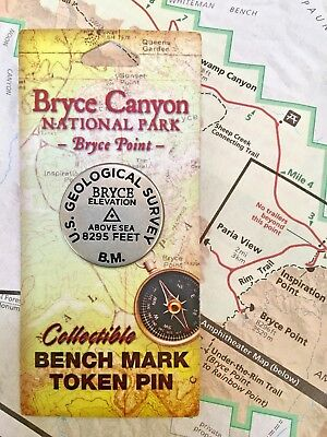 Bryce Canyon National Park Bench Mark Pin Bryce Point Utah US Geological Survey