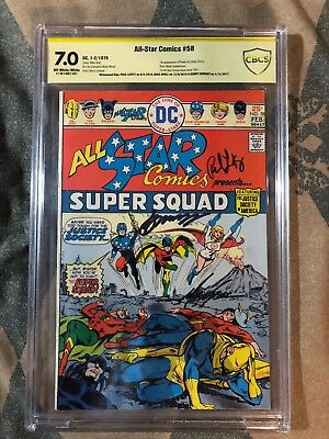 All Star Comics #58, CBCS Like CGC 7.0, 1st Appearance Of Power Girl, Signed x3