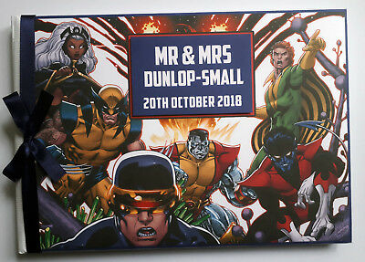 Personalised Comics Style X Men Wedding / Birthday Guest Book - Any Design