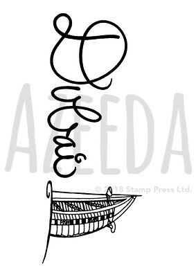 A7 'Dubai Text' Unmounted Rubber Stamp (SP00008259)