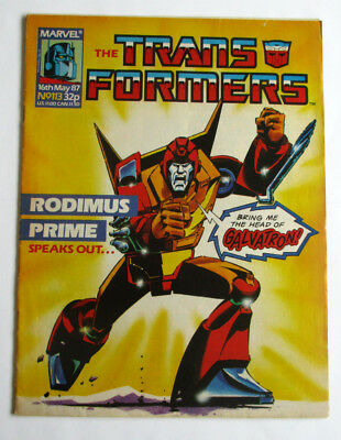 Transformers Comic No.113 May 1987 1st appearance Death's Head Marvel UK